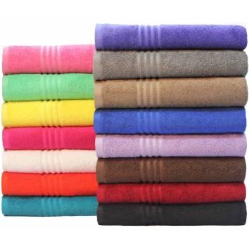 Dyed Bath Towels