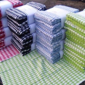 Terry Mono Check Tea Towels