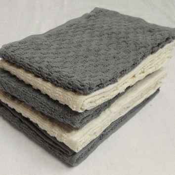Solid Mono Check Tea Towels