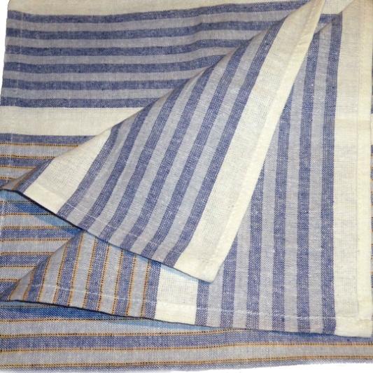 Two Tone Kitchen Cloth 50x70cm 80g, 50x76cm 95g Colors: Blue Red Brown Stripes